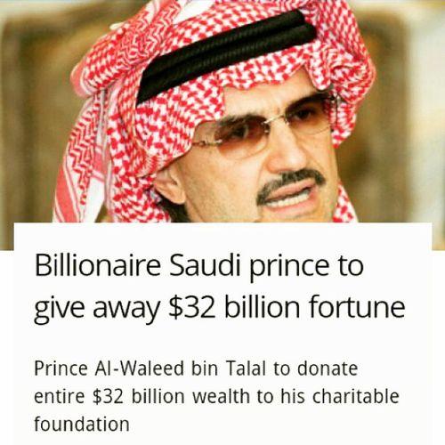 Awesome price SaudiPrice PriceAlWaleedBinTalal danate $32 billion to his CharitableFoundation