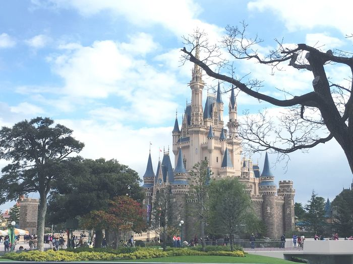 disneyland💓 Disney Tokyo Disneyland Christmas So Fun Time Happy Beautiful Cinderella Castle