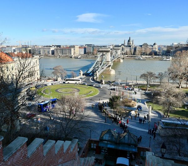 Budapest EyeEm Selects Danube Budapest Building Exterior Architecture Built Structure Sky Water City Nature High Angle View Day Beach Cloud - Sky Tourism Incidental People Sunlight Outdoors Building Crowd Travel Sea Cityscape