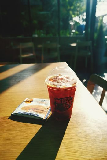 My coffee 😊 Food And Drink Drink Thailand Cafeamazon Cafelover Americano Leica Huawei P9 P9plus Table Drinking Glass Indoors  Sunlight Refreshment Cold Drink Day Healthy Eating Window No People Ice Tea Freshness Close-up Ready-to-eat