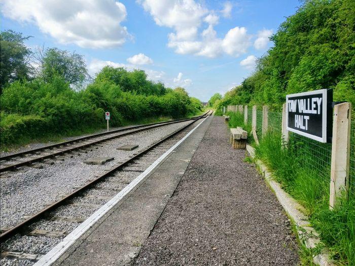 Text Cloud - Sky Tree Transportation Rail Transportation Railroad Track No People Day Sky Swindon Abandoned Places Oldtrainstation Oldtraintracks