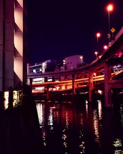 Night Photography Cityscape Urban River Highway Night Lights