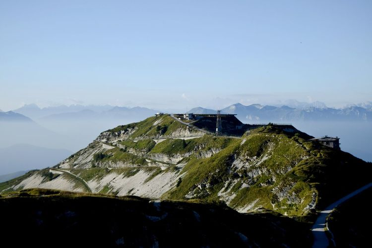 Scenic view of monte grappa against sky
