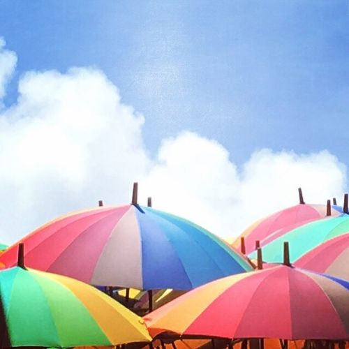 Umbrellas Multi Colored Tent Protection Summer Shelter Cloud - Sky No People Outdoors Hanging Philippine Festival Eyeem Philippines