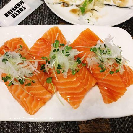 Salmon Sashimi Salmon Salmon Salad Sushi Dinner Dinner Time Dinner With Coworker 도쿄맨션 서면 Seomyeon