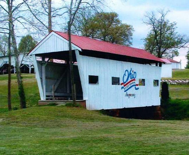 Covered Bridge Mill Creek Bridge Fairground