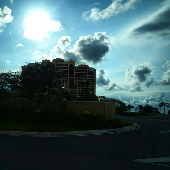 Reedited Taking Photos Enjoying The Sun Hello WorldEnjoying Life Sunshine Blue Sky Clouds And Sky From My Car On The Road