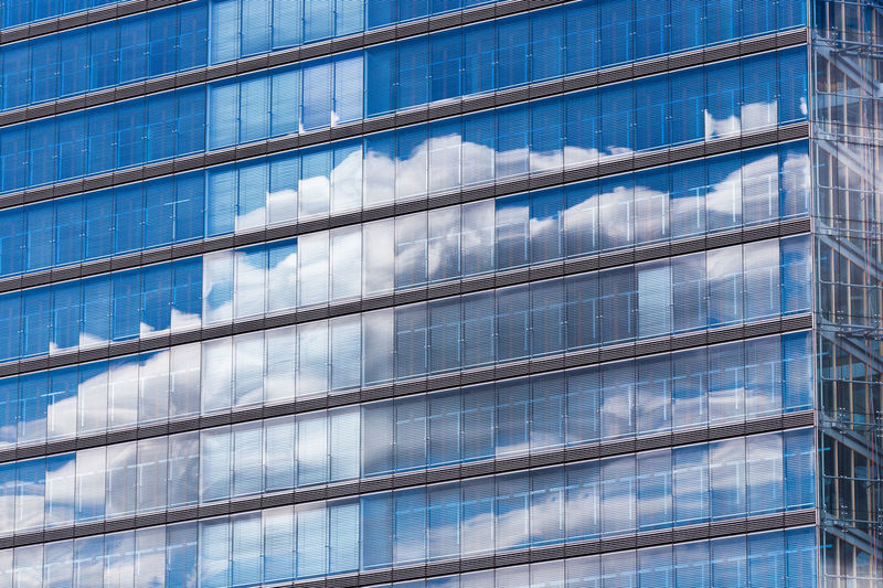 Duesseldorf, Germany Fenster Mirroring Spiegelung Wolken Architecture Blue Blue Sky Building Exterior City Clouds Day Full Frame No People Window Perspectives On Nature EyeEm Ready   The Graphic City