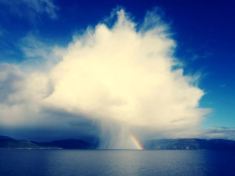 Rainbow sky Weather Rainbow Rain Sun Sky Insane Norway Landscape Shrooms Nuclear Rainbow Eyem Best Shots Eyem Nature Lovers  Nature Power Dramatic Sky