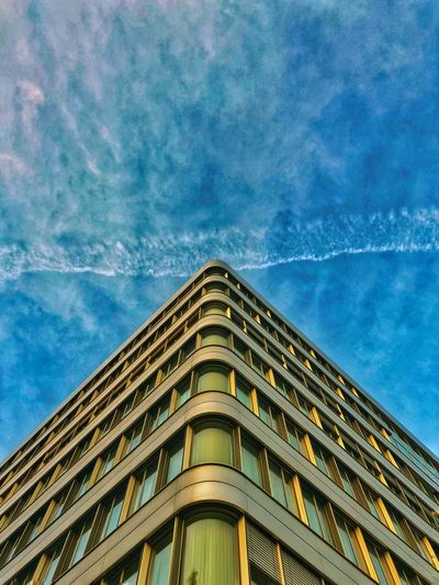 Germany Innenhafen  NRW Duisburg Architecture Building Exterior Built Structure Low Angle View Sky Window Business Stories Outdoors Modern No People Cloud - Sky Day The Graphic City Colour Your Horizn The Still Life Photographer - 2018 EyeEm Awards