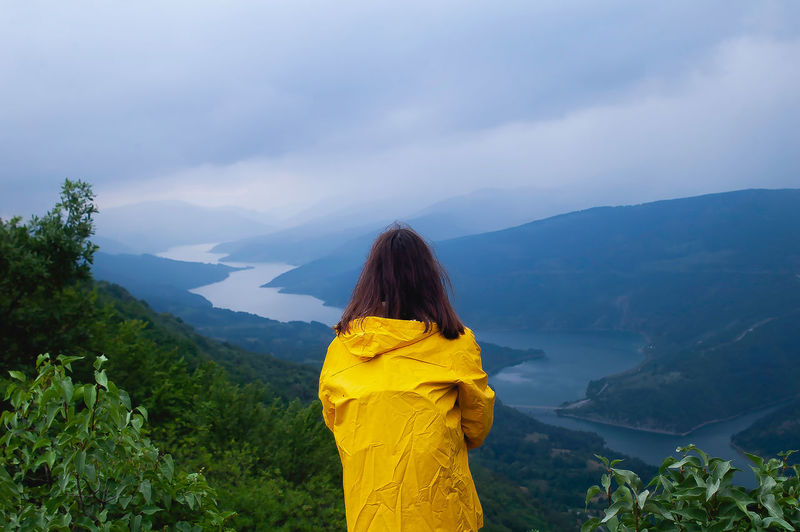 "Pirotski ""Uvac"", Zavojsko Jezero (Lake) Nikon Beauty In Nature Lake View Looking At View Mountain Mountain Range Nature Non-urban Scene One Person Outdoors Photo Photography Picture Real People Scenics - Nature Sky Standing Tranquil Scene Tranquility Women Yellow International Women's Day 2019 My Best Photo"