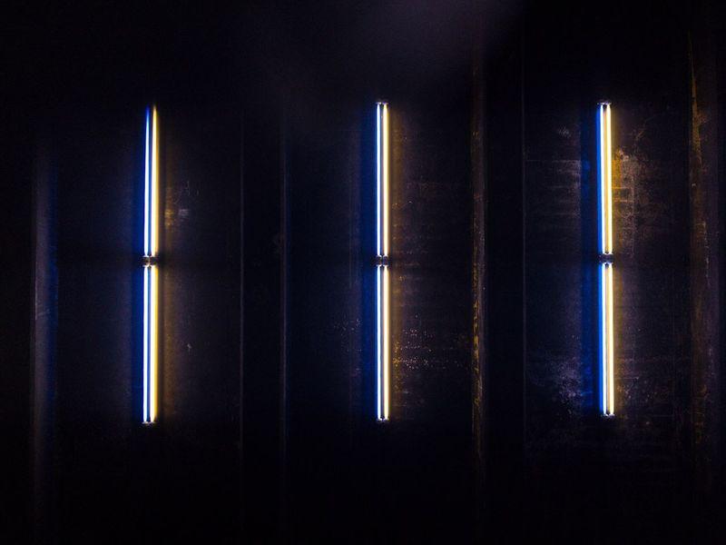 Look up. Issakhari Illuminated Dark No People Pattern Night New York Highline Lights And Shadows Light EyeEmNewHere Canon 7D MarkII Canon7dMK2 City Issa Khari Glowing Neon The Street Photographer - 2017 EyeEm Awards EyeEmNewHere