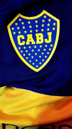 Boca Juniors Campeon Champion Blue Textile No People Textured  Indoors  Close-up