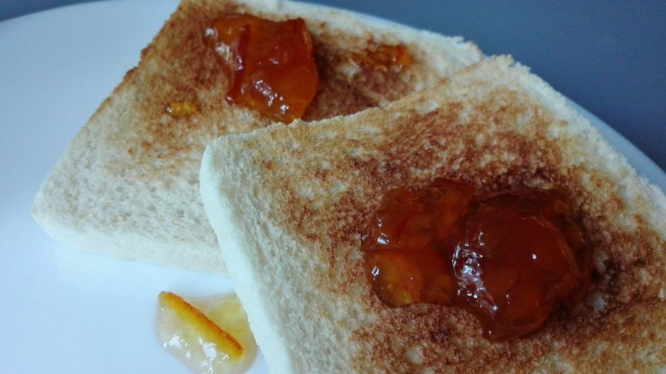 Food And Drink Indoors  Food No People Close-up Healthy Eating Freshness Day Toasted Bread Toast🍞 Toasts Jam Orange Orange Jam
