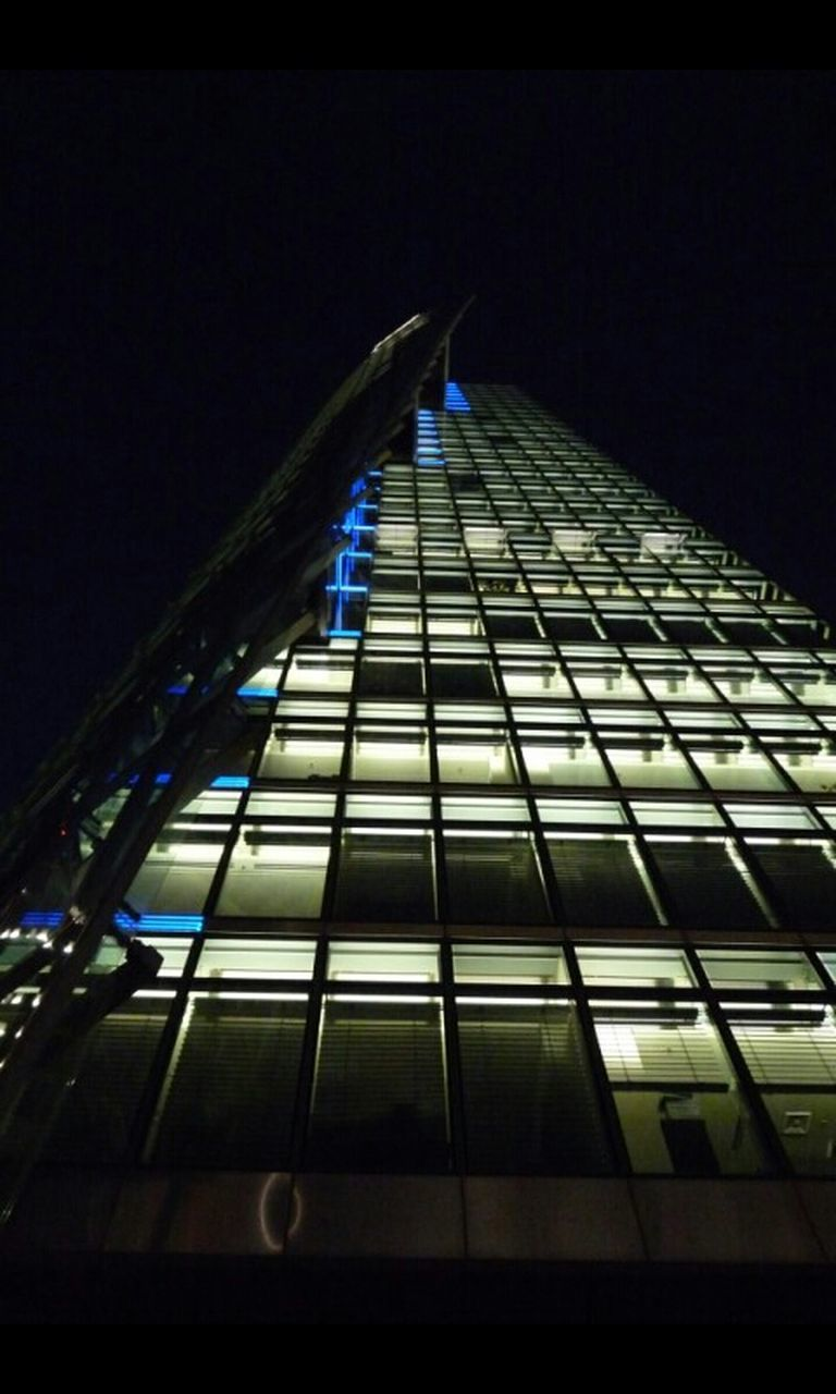 architecture, built structure, no people, skyscraper, building exterior, corporate business, low angle view, city, modern, tall, night, outdoors, illuminated