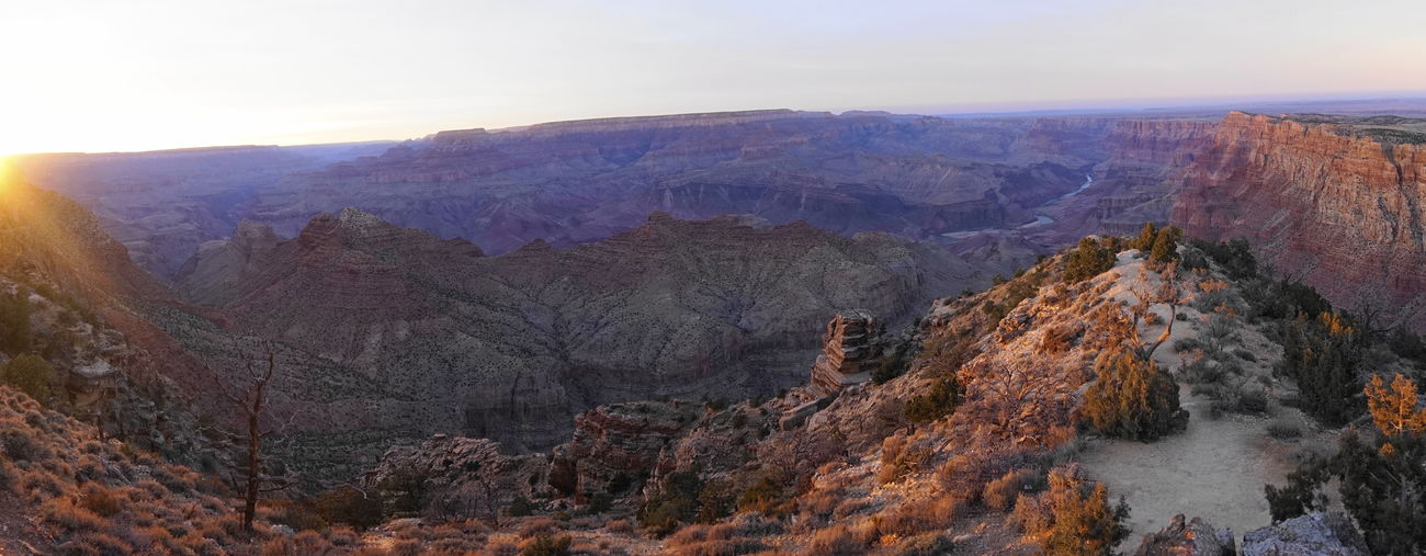 whoa Grand Canyon Desert View Watchtower Beauty In Nature Landscape Nature Outdoors River Rock - Object Scenics Sky Sunset Tranquility Travel Destinations Tree Water