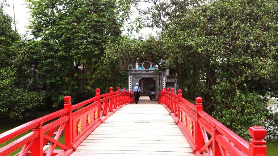 Man Entering Temple