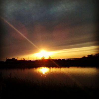 небо Ставок вода красота весна Sunset Clouds Water Sky Spring