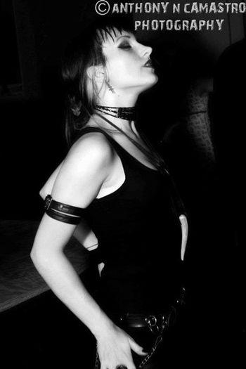 Gothic Dancer Candid Blackandwhite