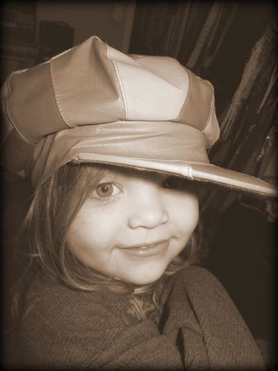 Childhood Close-up Confidence  Cute Hat Innocence Looking At Camera My Sweet Girl❤ Portrait Sporting The Hat
