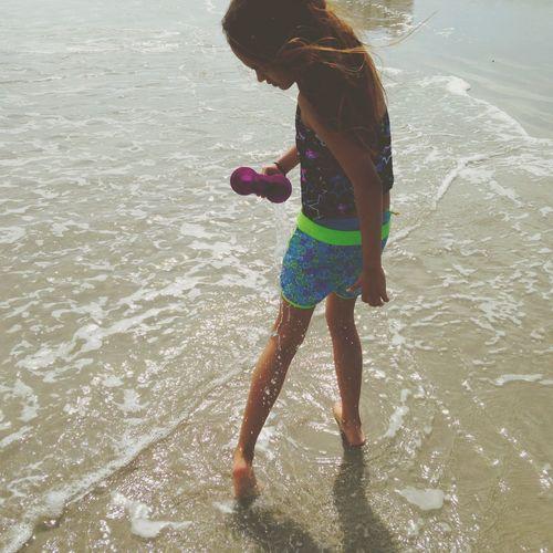 Beach Play Water Girl Beauty Life Child