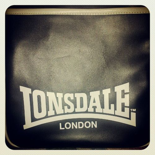 Lonsdale London Boxing Gear bag black & white