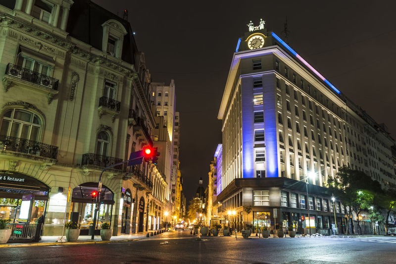 City lights, Buenos Aires. Architecture Buenos Aires, Argentina  Building Building Exterior City City Life City Street Façade Illuminated Long Exposure Night Night Photography Night Shot No People Street Light