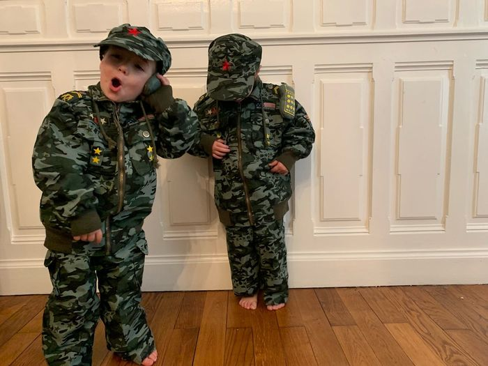 Costume Uniform Military Kids Military Uniform Men Child Clothing Boys Childhood Males  Indoors  Real People Two People Warm Clothing