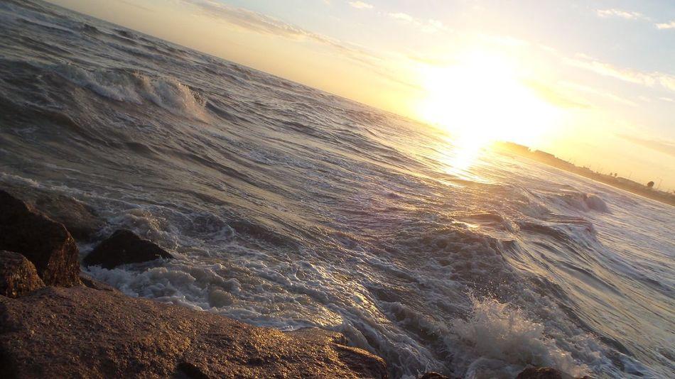 sunset ocean Galveston Texas