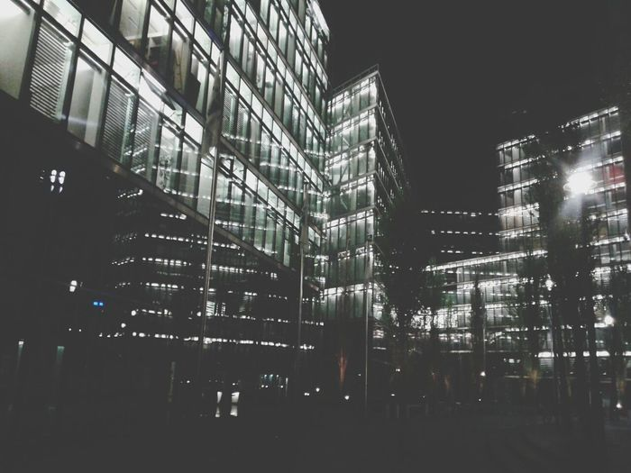 Creative Light And Shadow Lights Cityscapes Berlin Sonycenter Nightlights Night The Architect - 2015 EyeEm Awards Building Black & White Battle Of The Cities Color Of Technology