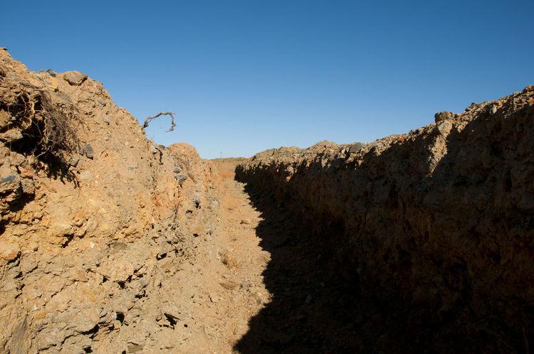 Dug Up Trench Australia Exploration Hole Mining Trench