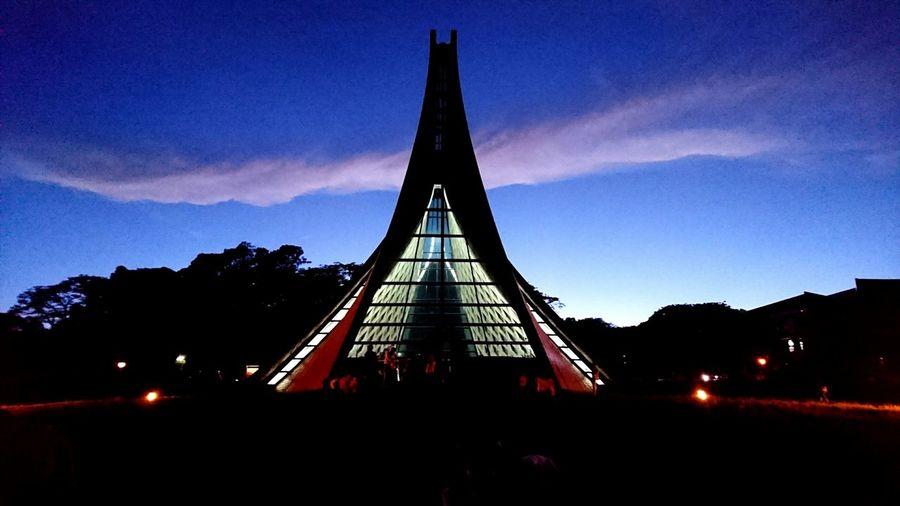向晚的Luce Chapel Sky Church Chapel Coulds And Sky Building And Sky Christ Tunghai University