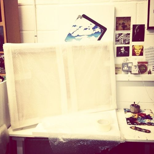 Packed and ready to go... If you want to see the other side then you'll have to go to the exhibition that's launching on Thursday! Facebook.com/whatisthepoint2013