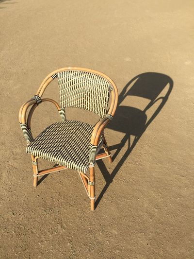 Emptiness in late afternoon. Chair Seat Absence Empty Emptiness Summer Sunny Day Sunny Day Outdoors Loneliness Object furniture Close-up Shadow Quiet Empty Places Empty Chair Light And Shadow Fine Art Photography