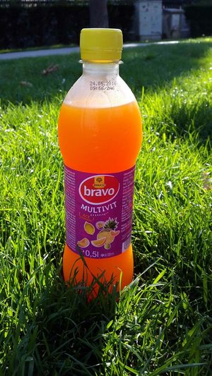 A break with an ice cold drink Multivit