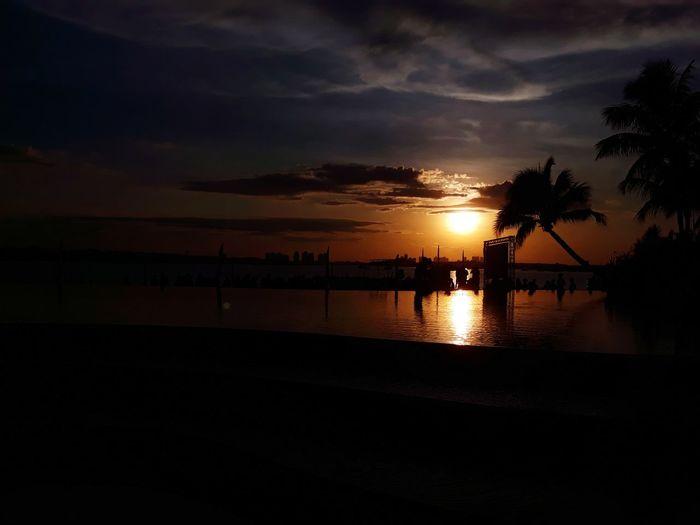 #sunset Sunset Malaysian Dangabay Sun Water Tree Sea Nautical Vessel Beach Silhouette Reflection Sky Horizon Over Water First Eyeem Photo