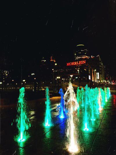 Nights IPhoneography Mexturesapp Mextures Night Illuminated Water Glowing City