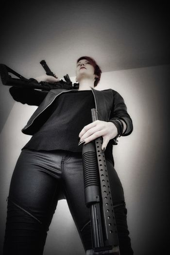 """I am ready for the zombie apocalypse😁😁😁/ Agent 47 series """"femme fatale"""" Guns Weapons Dangerous Modeling Model Pose Posing Canonphotography Female Femme Fatale Female Model Woman Inspired By Movies Eye4photography  Posing For The Camera Tadaa Community Gun Weapon Assignments"""