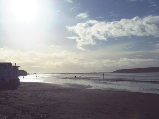 Winter beach Winter Morning Sun Westonsupermare Weston-super-mare Somerset England Somerset Seaside Sea Beach Beach Photography