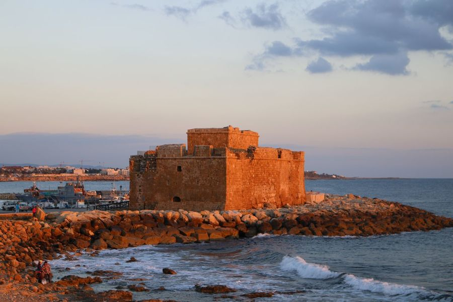 Cyprus Paphos Cyprus Paphos Naturelovers Nature Photography Nature_collection Blue Sea Sea And Clouds Sea And Sky Architecture Building Exterior Built Structure Sky Sea Fort Water History Outdoors Castle Cloud - Sky Nature Day No People Beauty In Nature Sunset Scenics Horizon Over Water