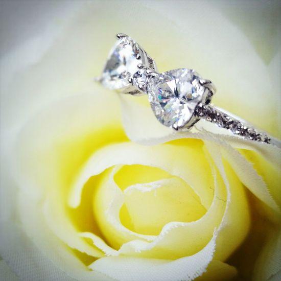 Ring Valentine's Day  Diamond Diamond Rings Close-up Diamond - Gemstone Yellow No People Indoors  First Eyeem Photo