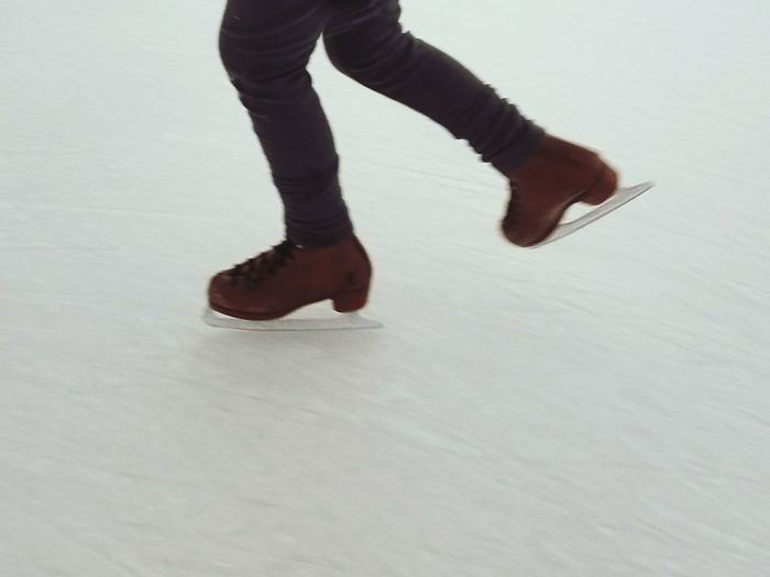 Child Legs Feet Ice Skating Ice Skate Ice Skates Ice Ice Rink One Person Adults Only Human Body Part Low Section Adult People Young Adult Indoors  Human Leg Day High Angle View Real People Indoors