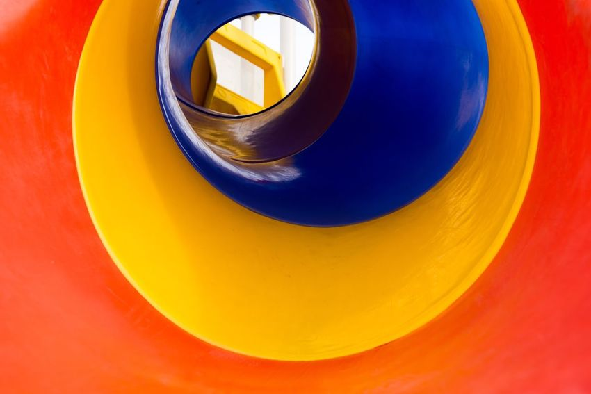 Tunnel Circle Close-up Geometric Shape No People Shape Orange Color Yellow Multi Colored High Angle View Design