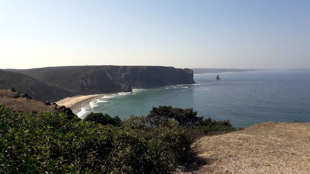 Dreaming... Algarve❤ Beach Nature Clear Sky Travel Destinations Horizon Over Water Beauty In Nature Cliff Vacations Wave My Soul's Language Is📷 For My Friends 😍😘🎁 Focus On The Beauty Tranquil Scene Memories Never Die Been There. Lost In The Landscape Go Higher