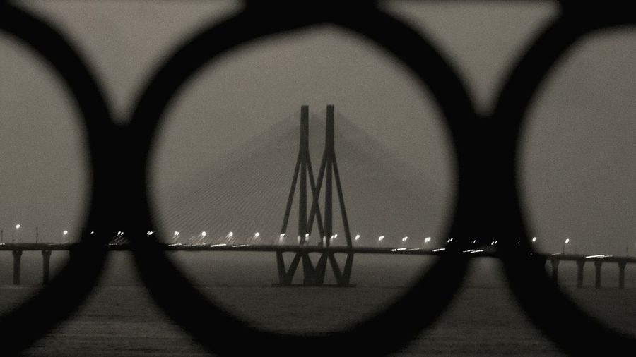 through the circle Bandra Worli Sea Link Bandraworlisealink Bandra-worli Sealink Circle Through The Window Through The Circle EyeEm Selects Water Close-up Architecture Arch Bridge Cable-stayed Bridge Suspension Bridge Bridge - Man Made Structure Arch Bridge The Architect - 2018 EyeEm Awards