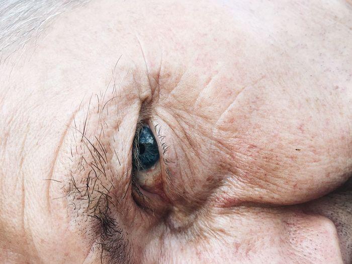 Cropped Image Of Mature Man Eye