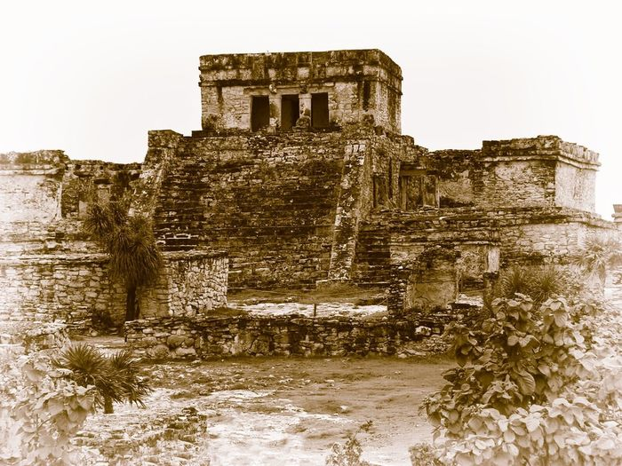Chitza Nitza, Mexico Mayan Ruins Mexico Tulum , Rivera Maya. Abandoned Ancient Ancient Civilization Archaeology Architecture Building Exterior Built Structure Day History Low Angle View Mayanculture Nature No People Old Ruin Outdoors Sky Temple The Past Tourism Travel Travel Destinations