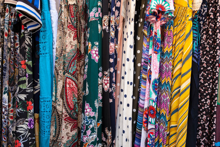 Art And Craft Backgrounds Choice Clothing Collection Consumerism Day Floral Pattern For Sale Full Frame Large Group Of Objects Market Multi Colored No People Pattern Retail  Retail Display Scarf Small Business Store Street Market Textile Traditional Clothing Variation