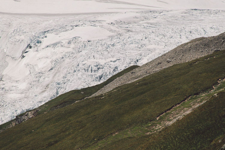 Cold Temperature Field Glacier Global Warming Grossglockner High Angle View Idyllic Landscape Melting Mountain Non-urban Scene Outdoors Pasterze Remote Scenics Season  Snow Tranquil Scene A Bird's Eye View Ice Age TakeoverContrast
