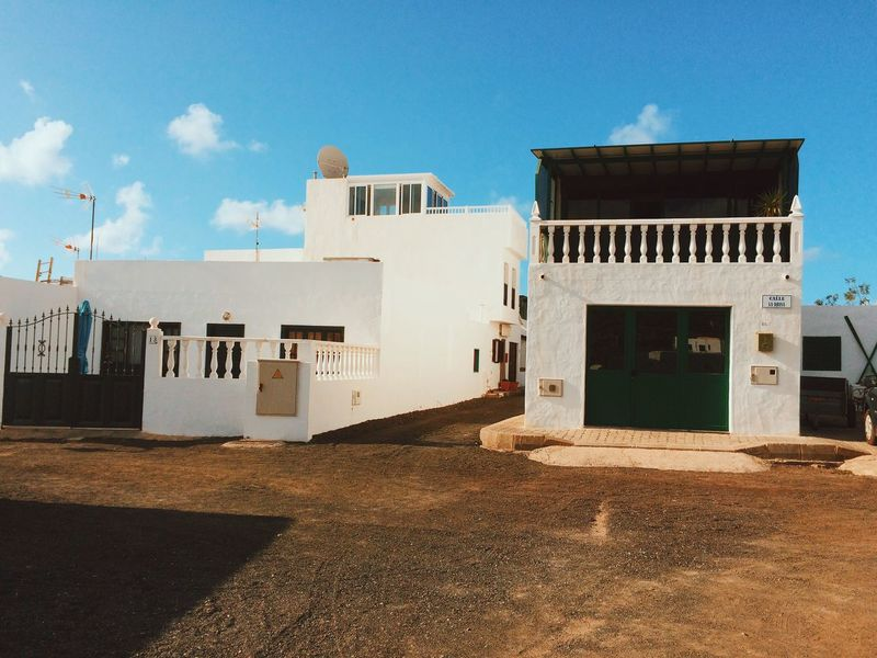 Lanzarote El Golfo Häuser Canary Islands Kanarische Inseln Yaiza